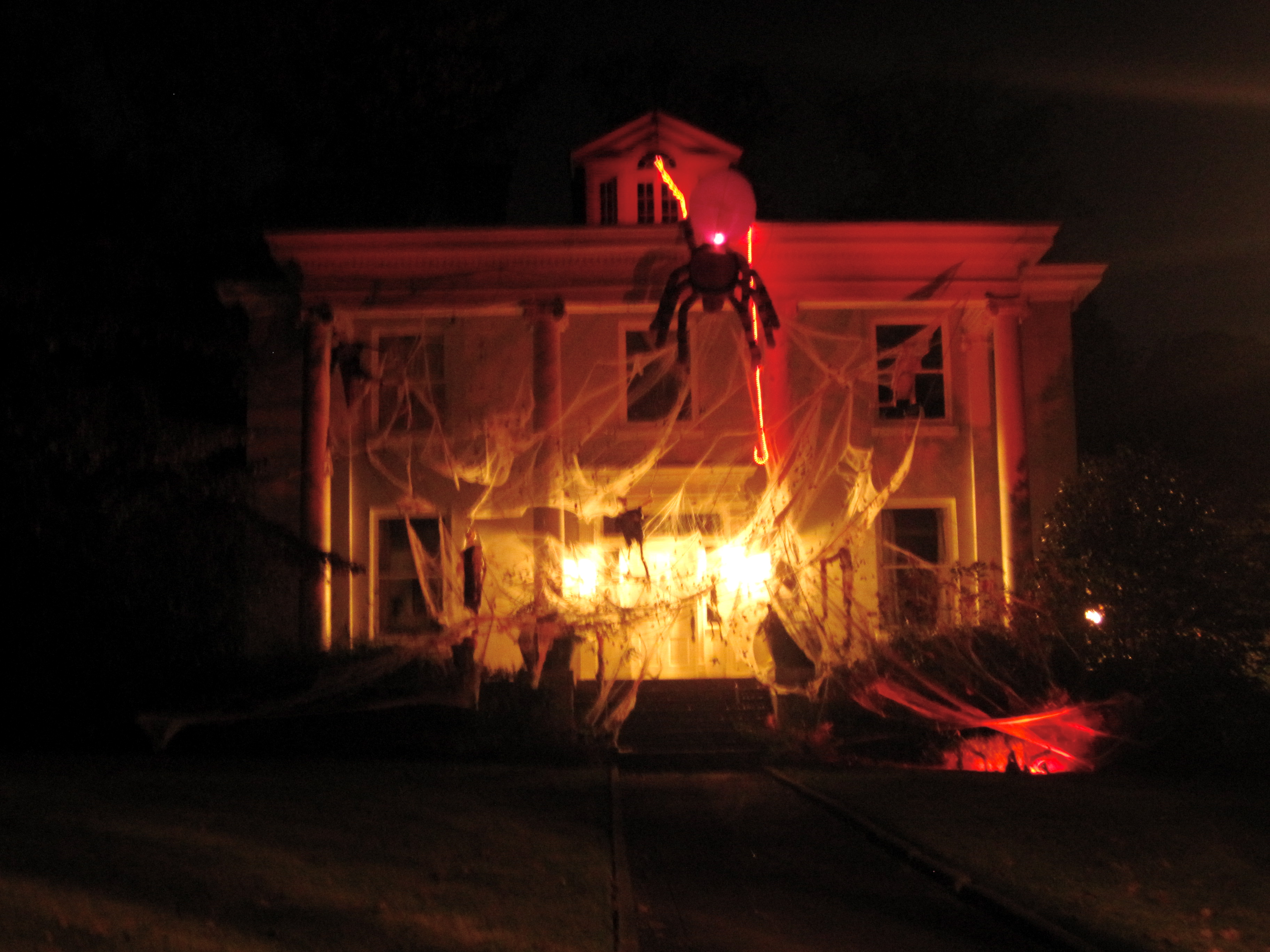 Halloween decorated mansion - I